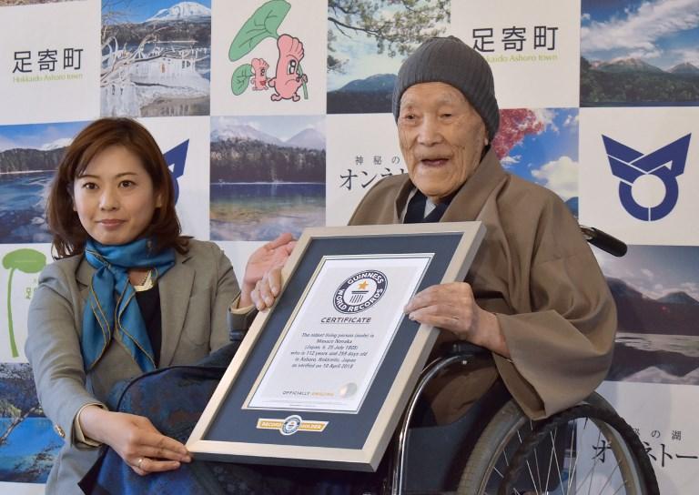 Con i suoi 112 anni di età il giapponese Masazo Nonaka è l'uomo più vecchio del mondo