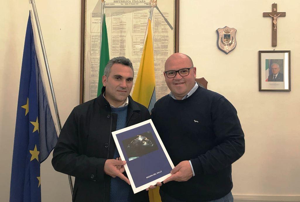 Mazara, visita di cortesia del Presidente del Consiglio Comunale di Marsala Enzo Sturiano