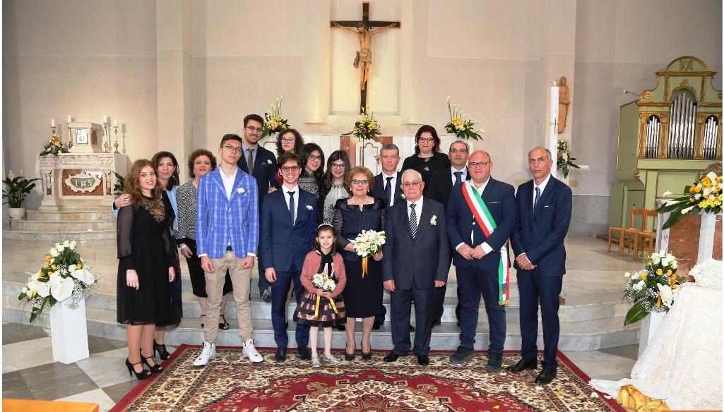 Mazara, nozze d'oro per i coniugi Gaspare Di Dia e Francesca Lamia