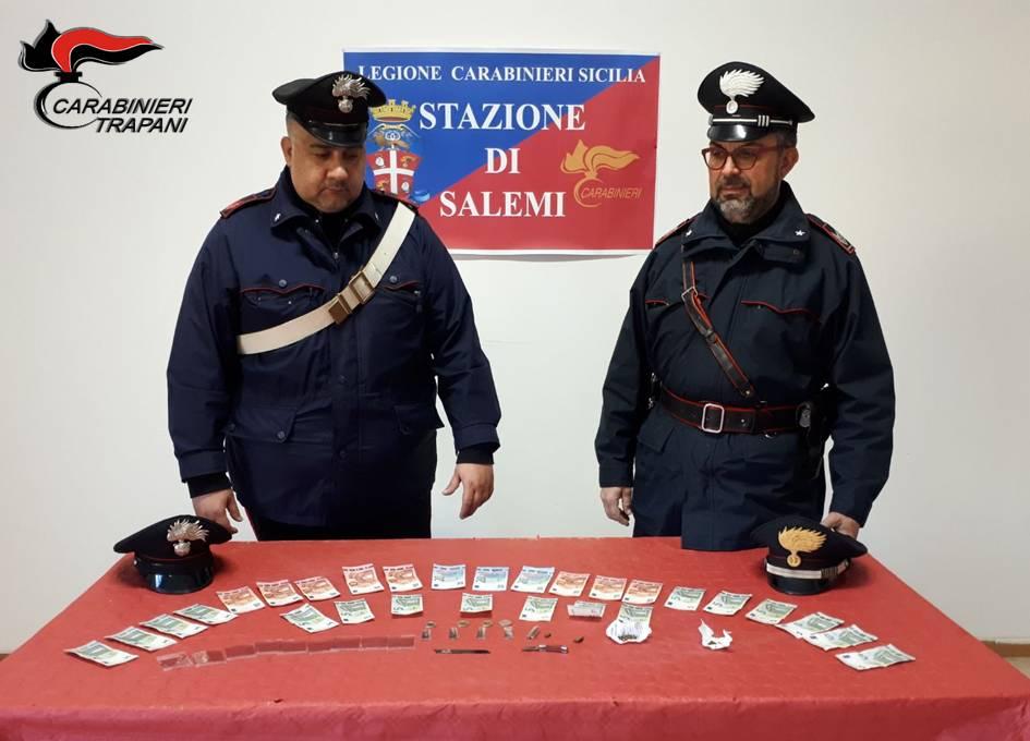 Salemi, arrestato 32enne per spaccio di droga
