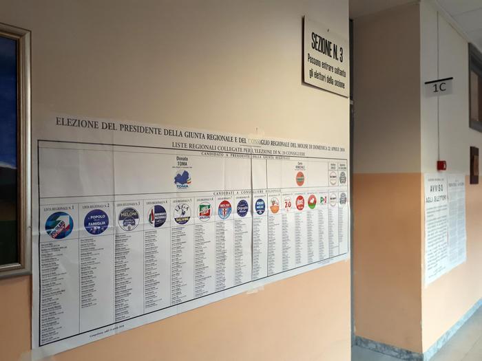 Regionali: seggi aperti dalle 7 in Molise