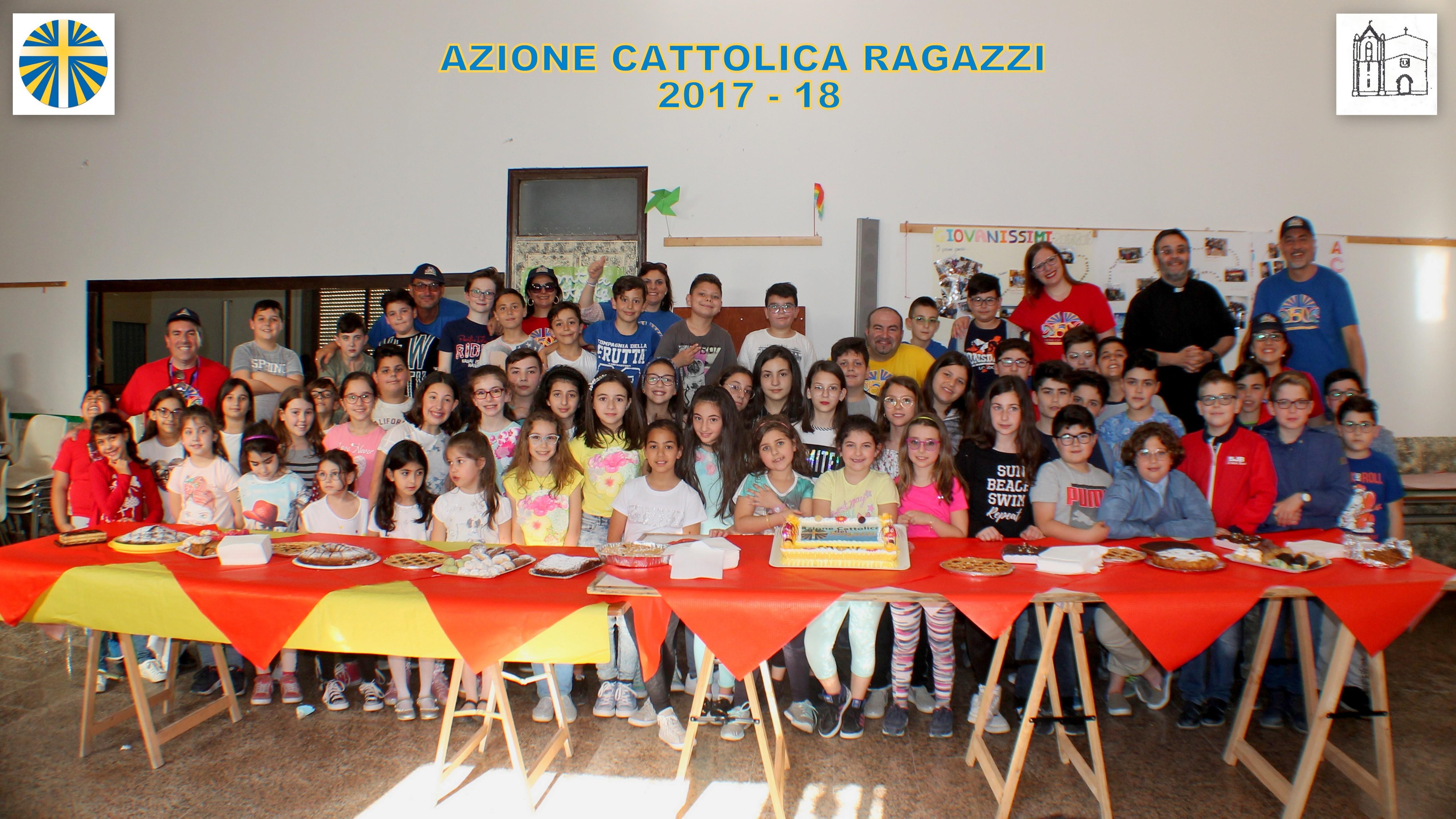 """Mazara, Parrocchia Santa Maria di Gesù. """"Azione Cattolica Ragazzi – Chiusura attività 2017-18"""""""