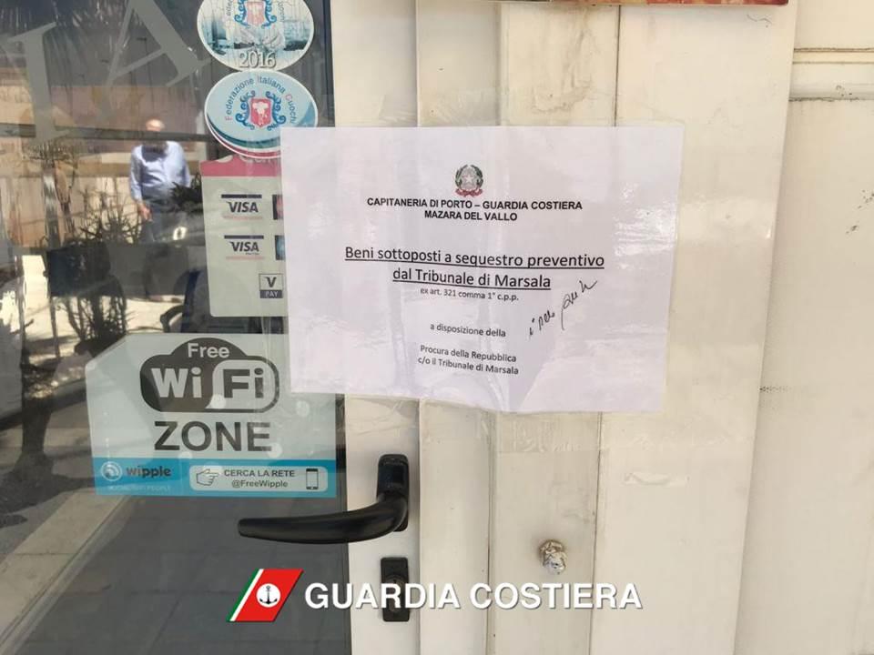 Mazara, sequestrate strutture abusive sul lungomare Mazzini ed Hopps