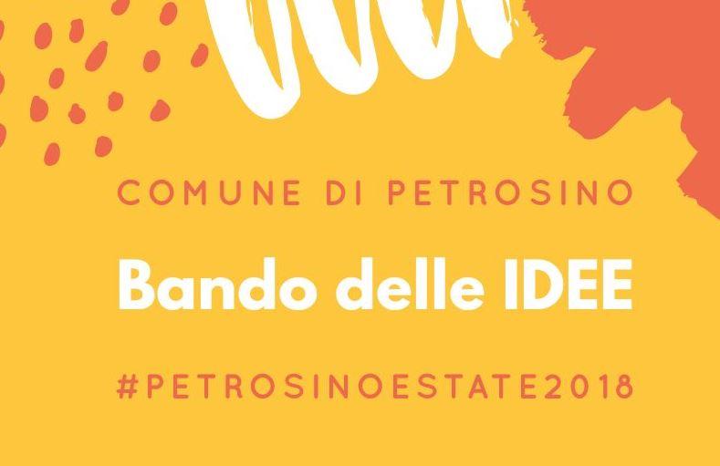 """Petrosino Estate 2018: pubblicato il """"Bando delle Idee"""""""