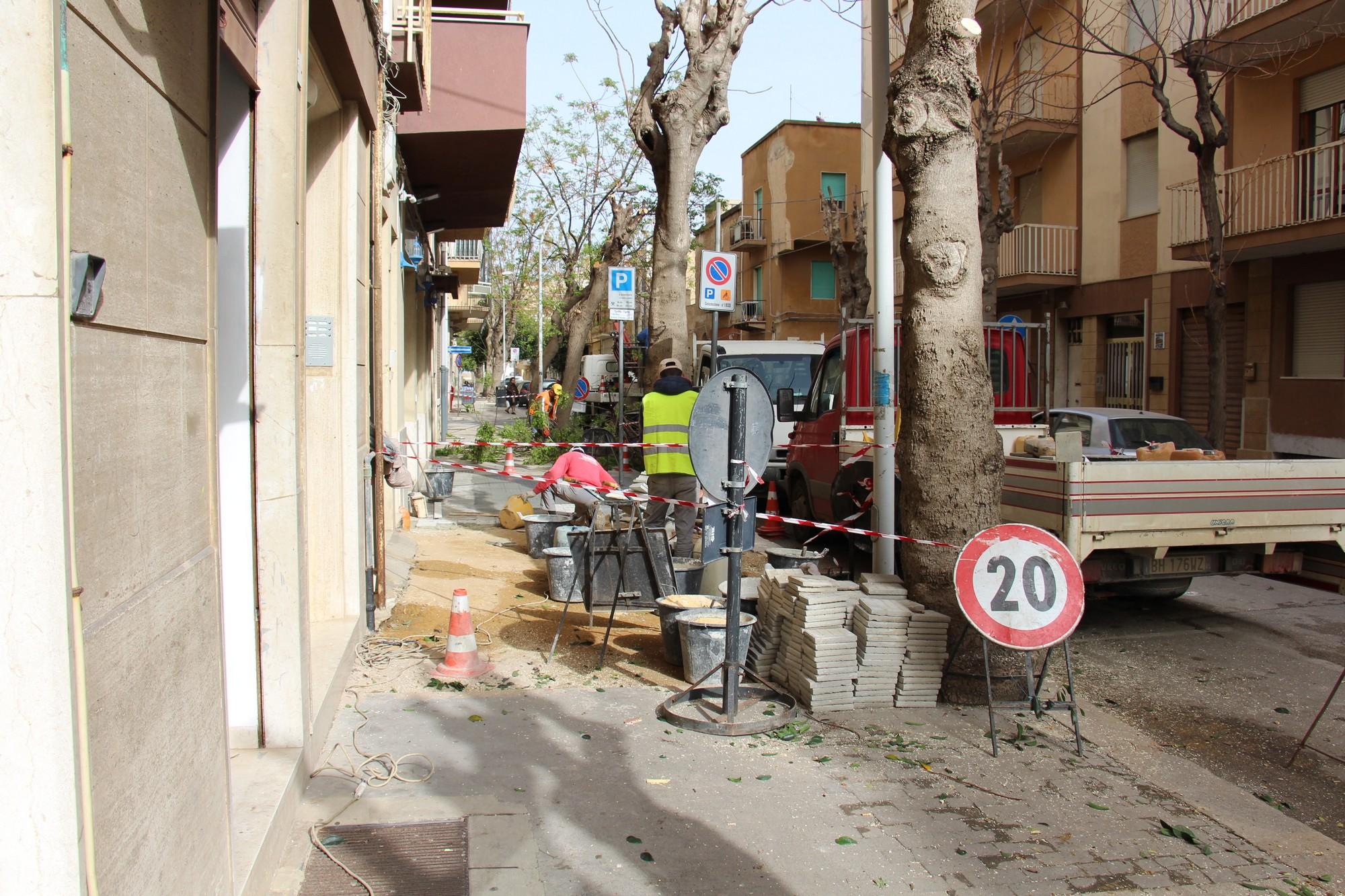 Marsala, continua la manutenzione di strade e marciapiedi