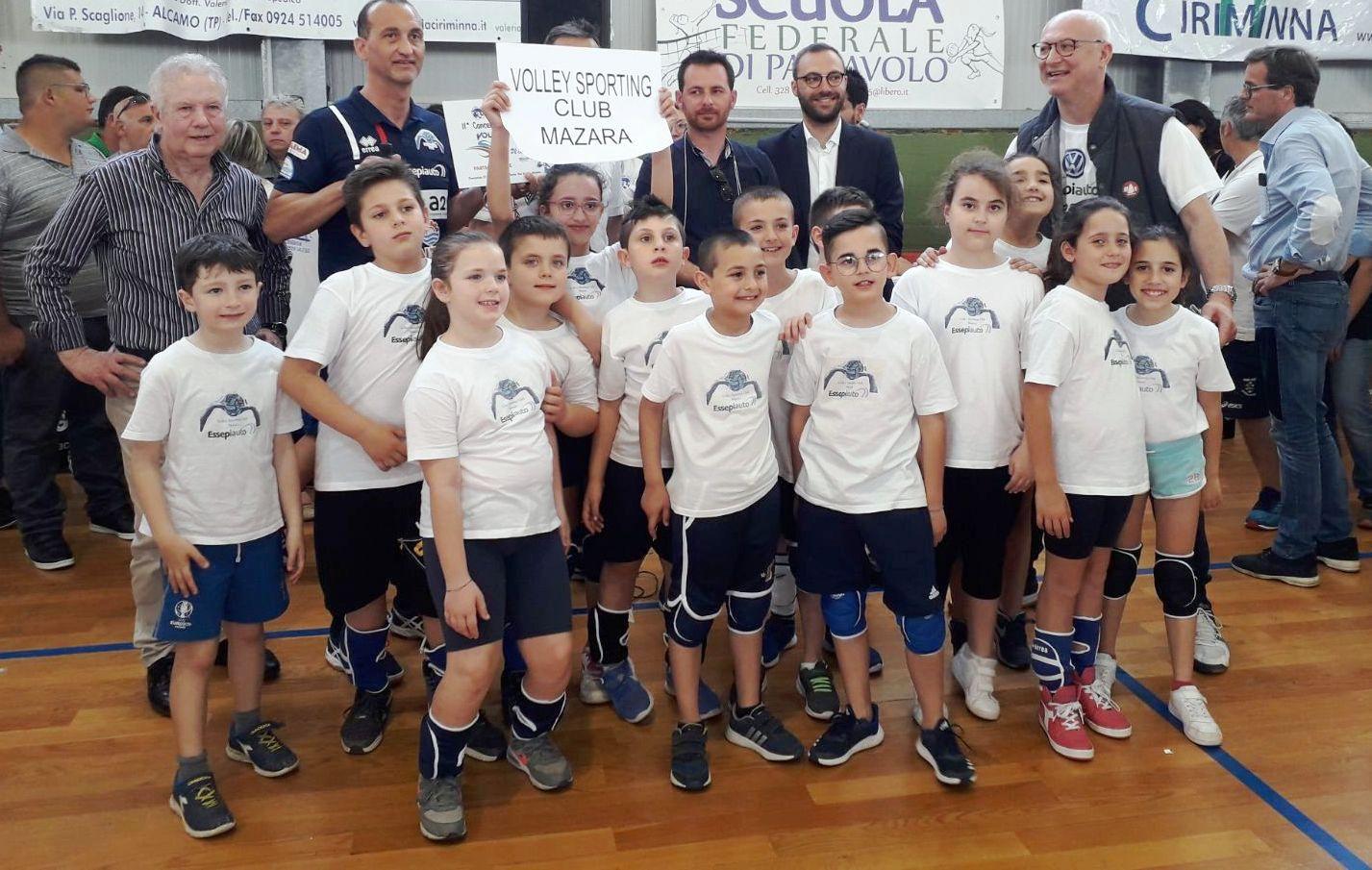 I piccoli atleti del Volley Sporting Club Essepiauto Mazara hanno partecipato al concentramento interprovinciale di volley S3