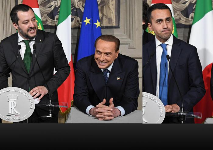 Silvio Berlusconi annuncia il suo via libera ad un governo M5s-Lega