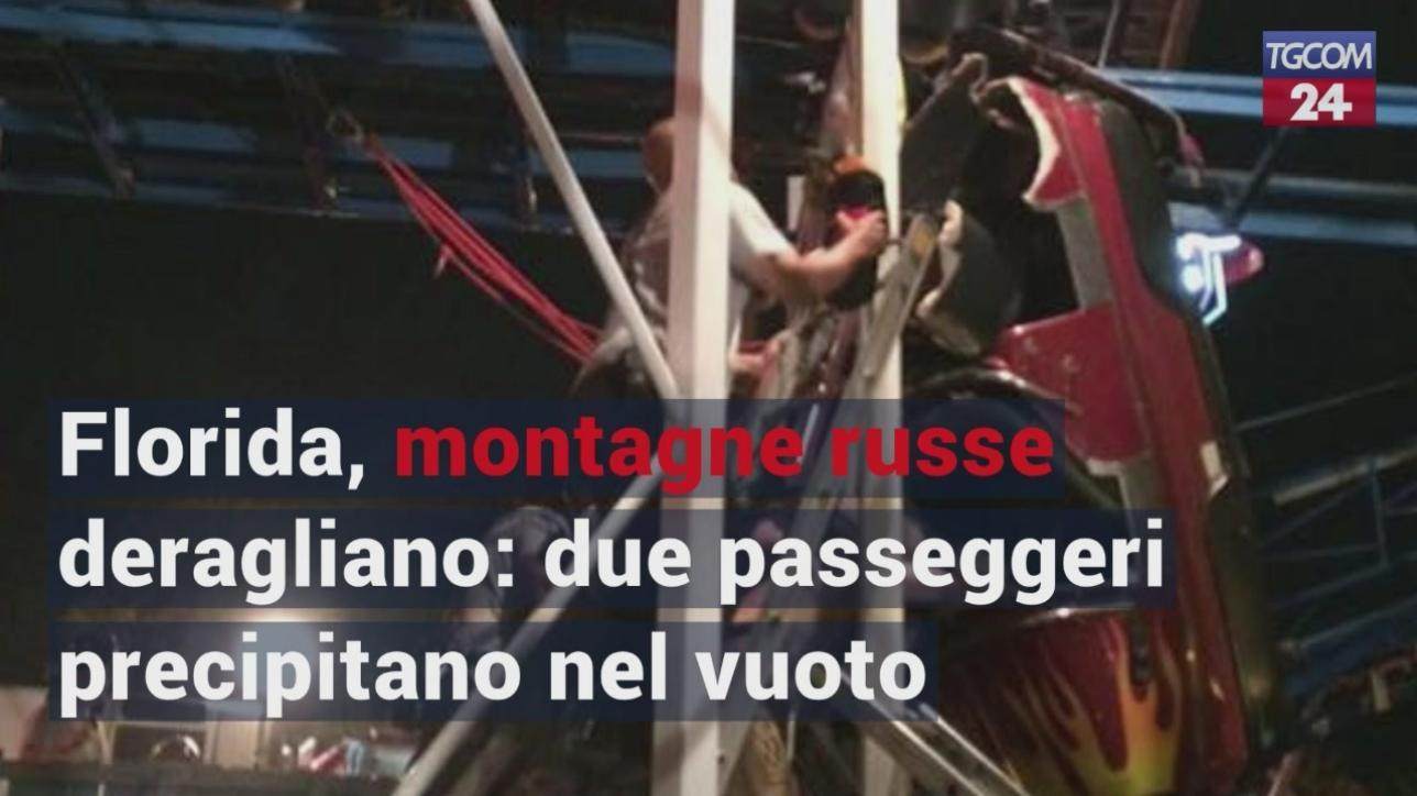 Florida, montagne russe deragliano: due passeggeri precipitano nel vuoto