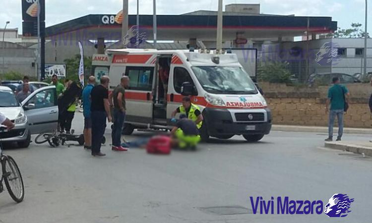 Mazara, incidente stradale in Via Castelvetrano. Un uomo ferito