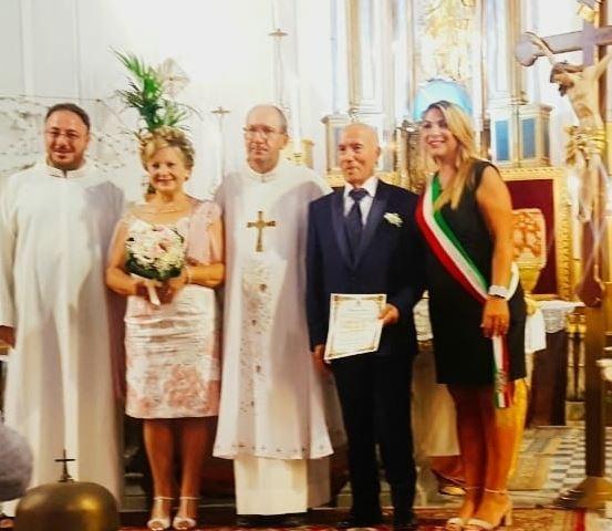 Mazara. NOZZE D'ORO: I coniugi Ezechia – Foggia hanno festeggiato 50 anni di matrimonio
