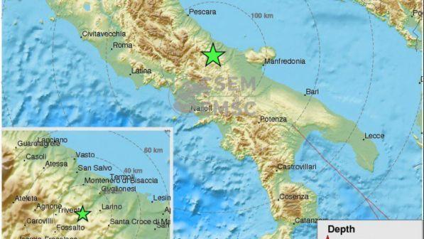 Terremoto in Molise, prima scossa di magnitudo 4.7, poi la seconda: tanta paura ma solo lievi danni