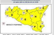 Meteo: Avviso della protezione civile per martedi 18 settembre, ALLERTA GIALLA IN TUTTA LA SICILIA