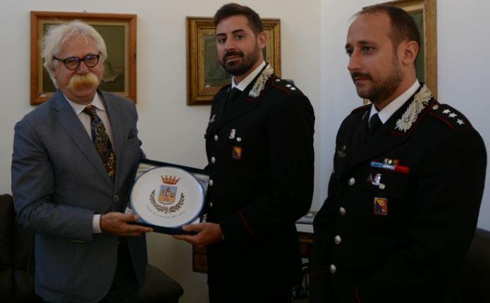Mazara. Il Sindaco ha incontrato il tenente dei carabinieri Marco Colella