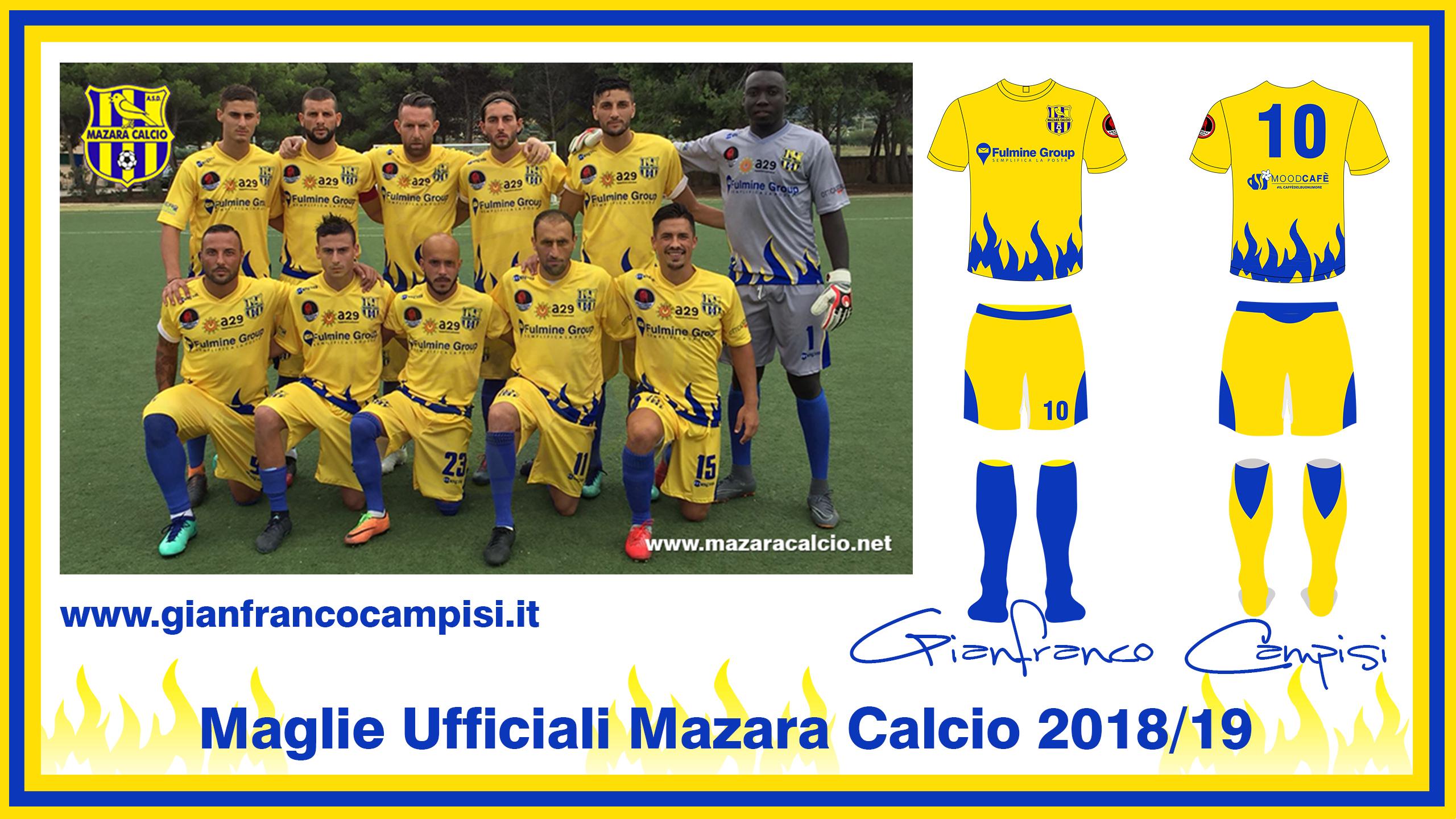 Mazara – Castelbuono, i canarini scenderanno in campo con le nuove maglie disegnate da Gianfranco Campisi