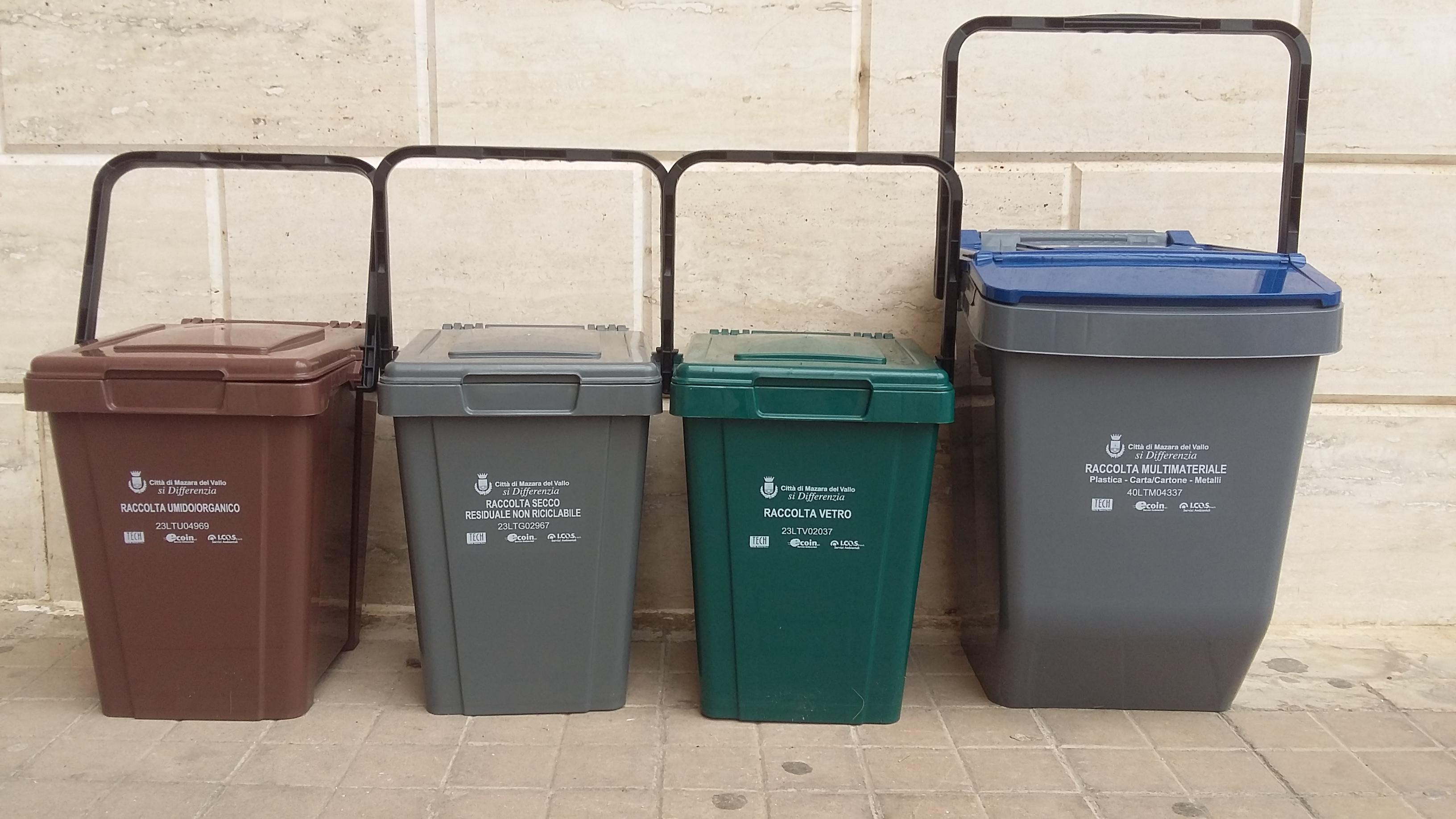 Mazara. Raccolta Differenziata in tutto il territorio comunale da Mercoledì 10 Ottobre