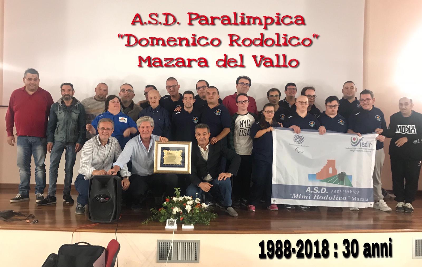 "L'ASD Paralimpica  ""Mimì Rodolico"" Mazara ex ASD Disabili Mazara compie trent'anni"