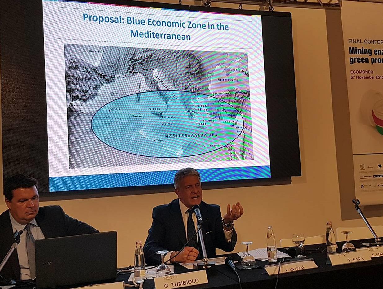 """Mazara. Il sogno di Giovanni Tumbiolo: """"la Blue Economic Zone"""" nel Mediterraneo"""