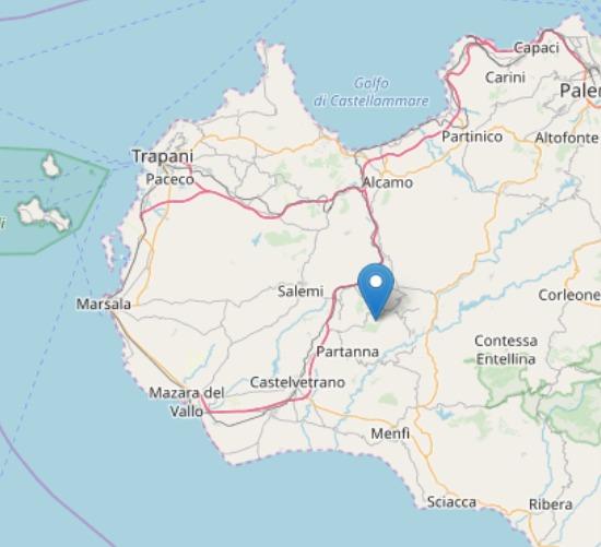 Scossa di terremoto magnitudo 3.1 in provincia di Trapani