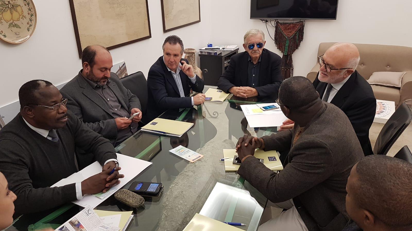 Mazara. Visita al Distretto di una importante delegazione di imprenditori del Congo-Brazzaville