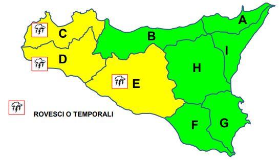 Sicilia: Bollettino Meteo della protezione civile. AVVISO RISCHIO IDROGEOLOGICO E IDRAULICO