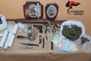 Campobello: Operazione dei carabinieri. Due arresti, denunce e rinvenute armi e droga