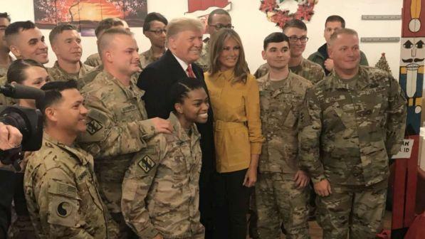 Iraq, visita a sorpresa di Donald Trump: