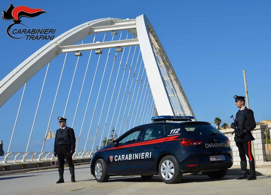 Campobello e Salemi. Un arresto e una denuncia dei carabinieri