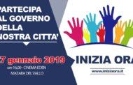 A Mazara domenica 27 gennaio 'INIZIA ORA': evento in vista delle Amministrative 2019