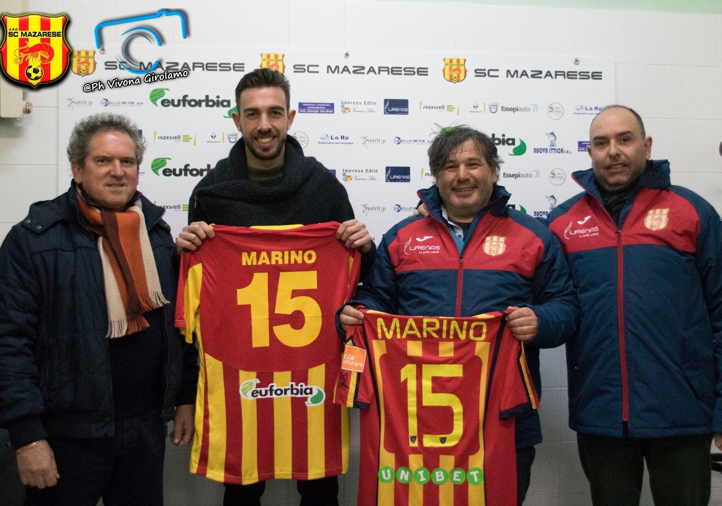 La Mazarese batte il Carini 2-0. Premiato Marino, il difensore mazarese che milita nel Lecce