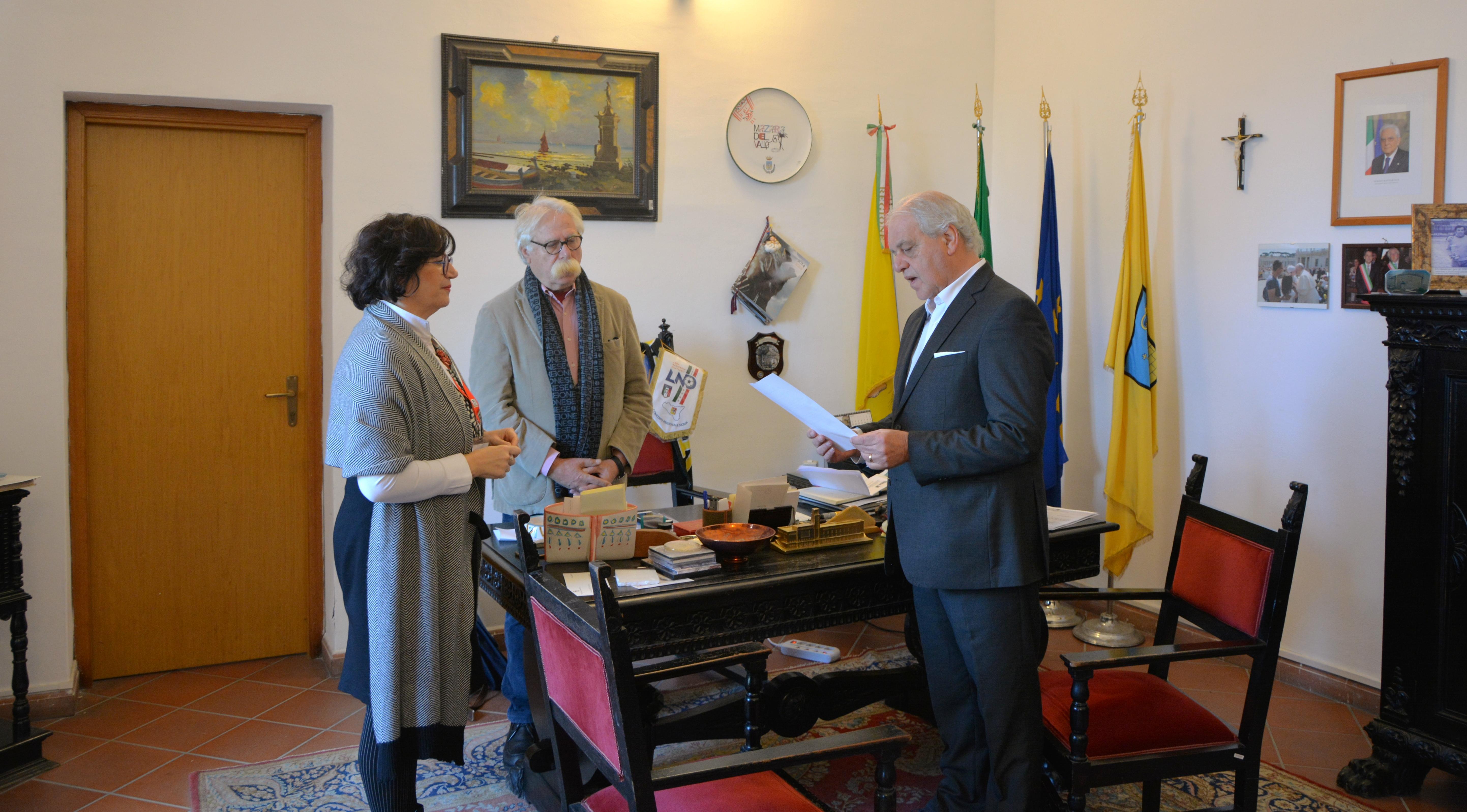 Mazara, Giuramento del neo assessore Giuseppe Fontana
