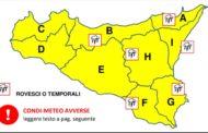 Maltempo, allerta gialla anche oggi in Sicilia e in provincia di Trapani
