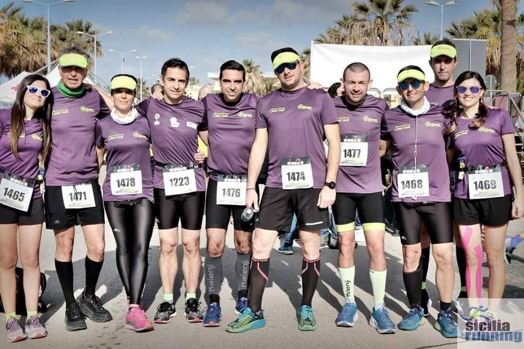 l'Asd Cocoon club running Mazara è stata presente alla Mezza Maratona della Concordia