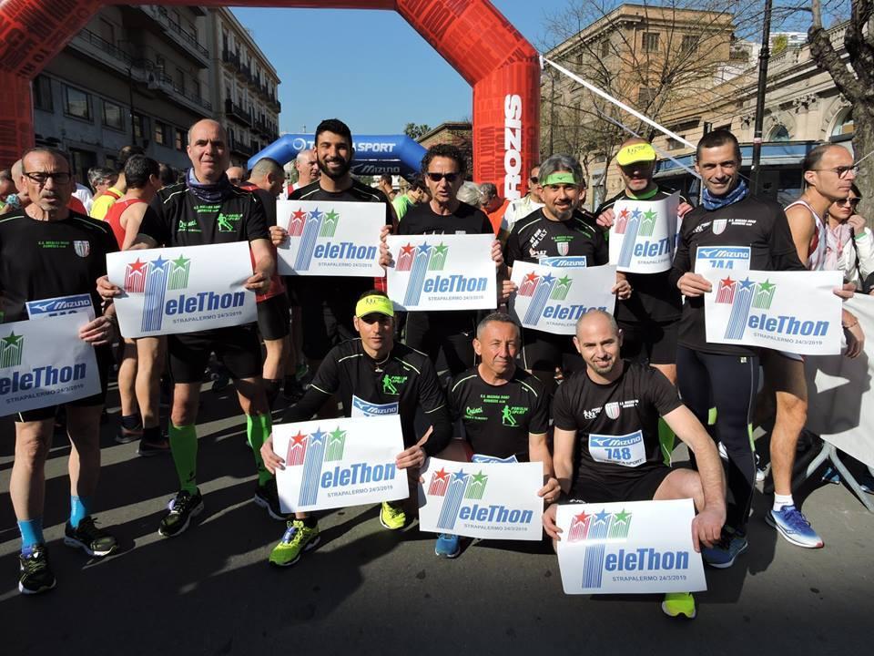 Il G.S. Mazara Road Runners alla STRAPALERMO a sostegno di TELETHON