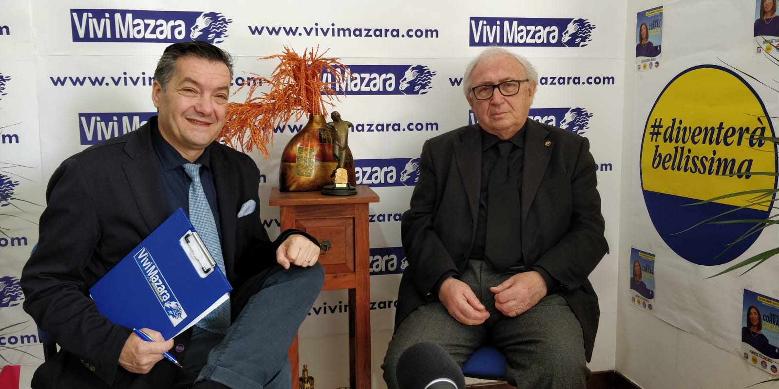Mazara. INFORMAZIONE ELETTORALE: INTERVISTA CON AURELIO NORRITO DI DIVENTERA' BELLISSIMA