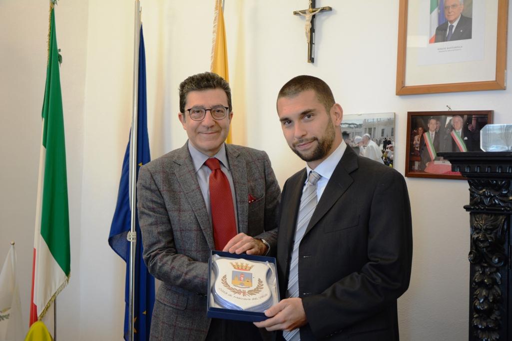 Mazara: Incontro tra il commissario straordinario del Comune ed il neo dirigente del commissariato di Polizia, Valerio Maria Bologna