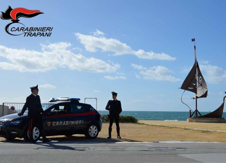Carabinieri effettuano un arresto a Mazara, Erice e Campobello