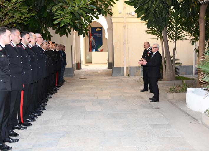 Visita del Prefetto presso il Comando Provinciale Carabinieri di Trapani