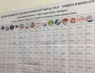 Mazara. EUROPEE: VOTI DEFINITIVI DI LISTA, Sezioni scrutinate 50 su 50