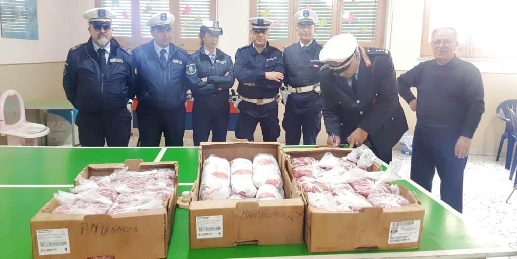 Mazara. La polizia municipale dona al Boccone del Povero 57 Kg di carne frutto di sequestro