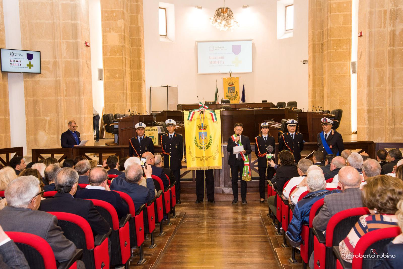 Mazara. Conferita al gonfalone la croce al valor militare alla memoria del partigiano mazarese Giovanni Modica