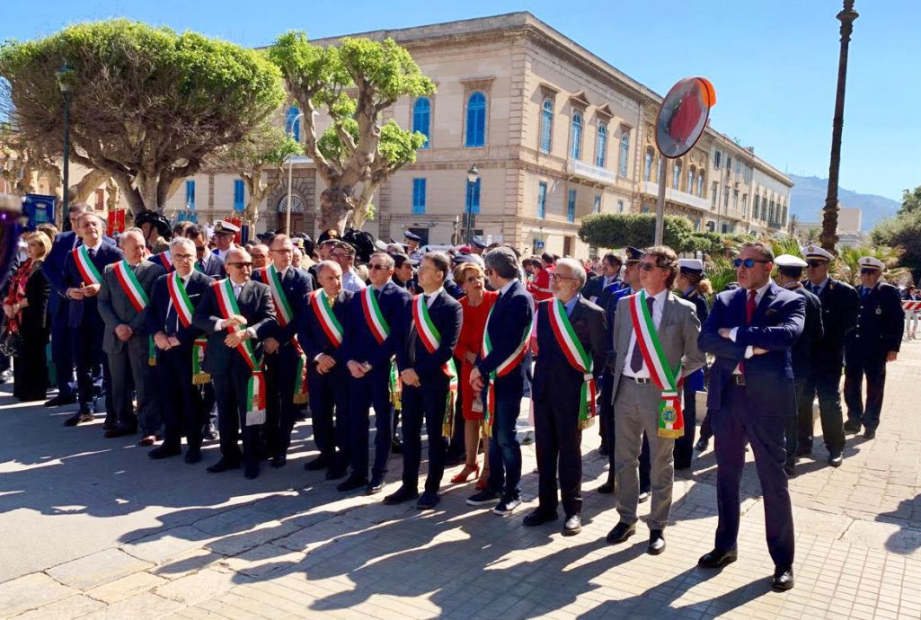 Il Sindaco Quinci al tradizionale raduno provinciale a Trapani, per celebrare la Festa della Repubblica