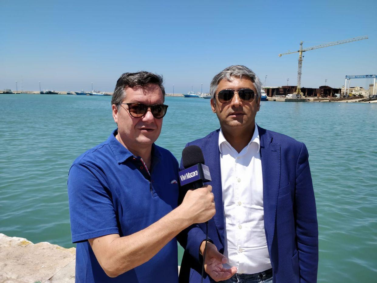 Mazara. Dragaggio del porto canale. Intervista all'On. Toni Scilla
