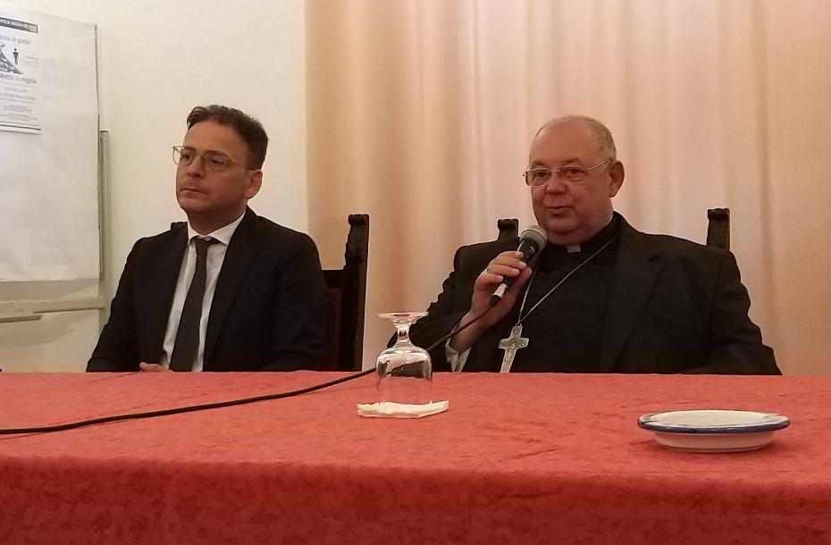 Sua Eccellenza Mons. Vito Rallo, nunzio apostolico in Marocco, in visita al Comune di Mazara