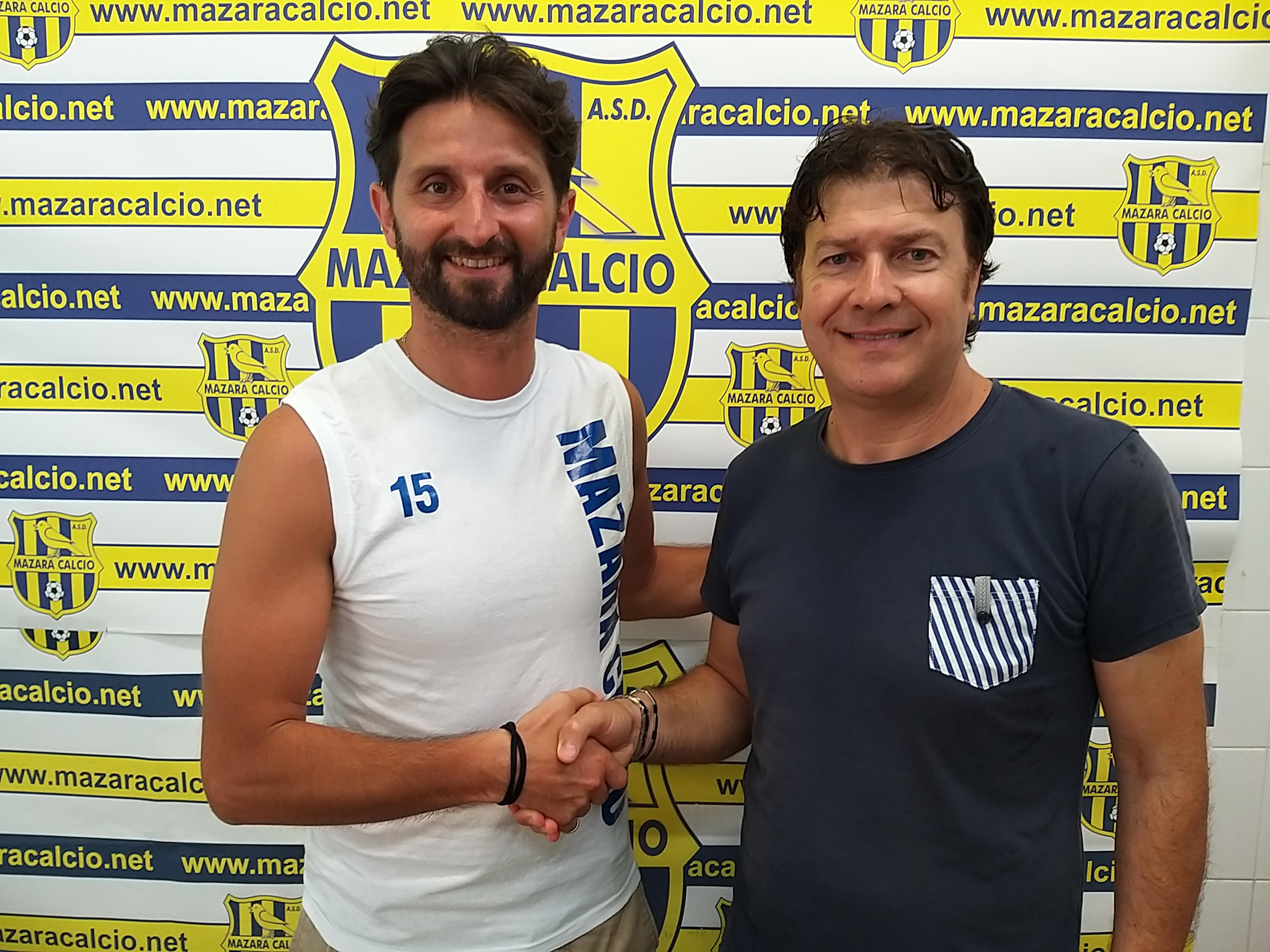 Mazara calcio: L'esperto difensore centrale Agate in maglia canarina
