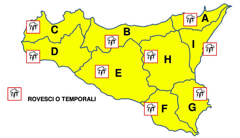 Maltempo in Sicilia, dalla Protezione civile nuova allerta gialla per domani