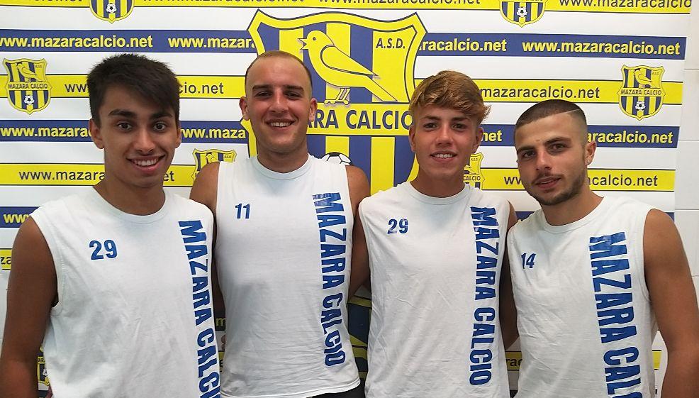 Mazara calcio: Adamo, Sammartano, Nieto e Lo Grasso in gialloblu