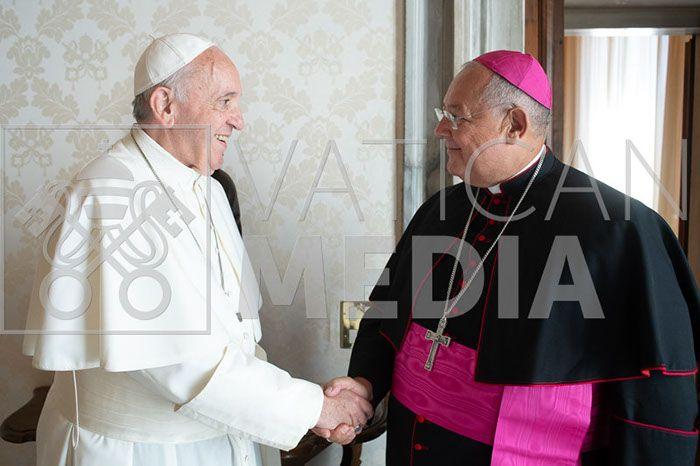 Papa Francesco ha ricevuto in udienza privata S.E.R. Monsignor Vito Rallo, Nunzio Apostolico nel Regno del Marocco
