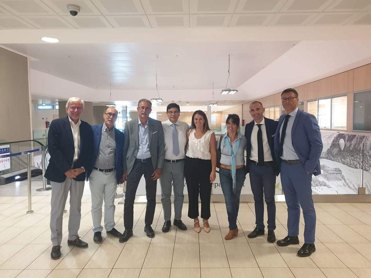 La coordinatrice provinciale di Diventerà Bellissima, Avv. Giulia Ferro, ha incontrato il neo Presidente dell'Airgest Dott. Salvatore Ombra