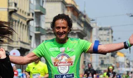L'atleta mazarese Pino Pomilia alla maratona di Palermo