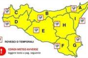 METEO: Avviso di protezione civile per il rischio meteo-idrogeologico e idraulico, valido dalle ore 16 dell'8 novembre alle 24 del 9 novembre